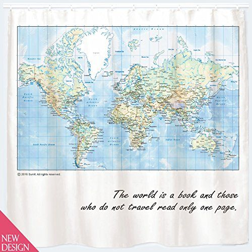 World map shower curtain with inspiring quote detailed m https world map shower curtain with inspiring quote detailed m https gumiabroncs Gallery