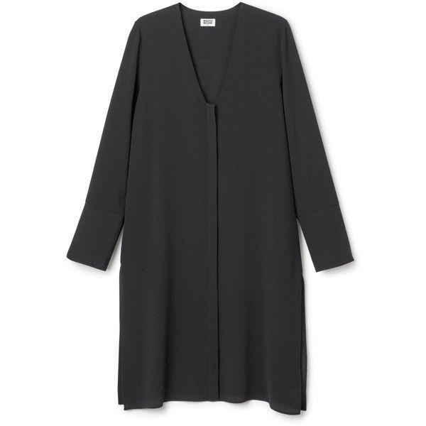 Mara dress ❤ liked on Polyvore featuring dresses, sleeve dress, knee-length dresses, knee high dresses, long sleeve knee length dress and long sleeve dresses