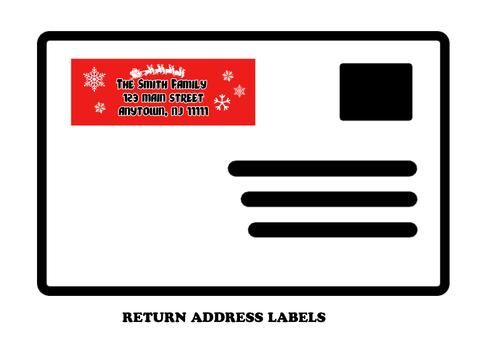 Christmas Return mailing address labels Mailing address and Adhesive - sample address label