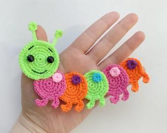 Photo of PATTERN Bugs Applique Crochet Patterns PDF Caterpillar Bee Grasshopper Ledybug C…