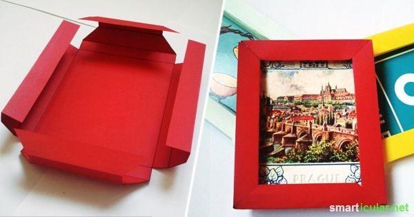 3d bilderrahmen mit origami selber falten ohne kleber schenken origami diy paper und diy. Black Bedroom Furniture Sets. Home Design Ideas