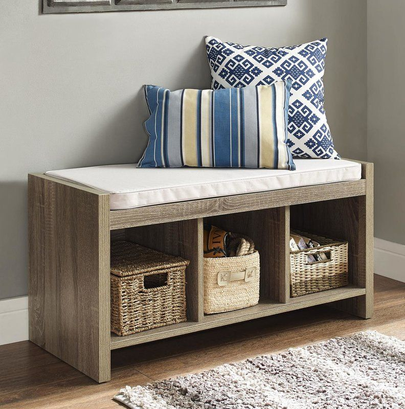Claudia Storage Bench with Cushion in 2019 Entryway
