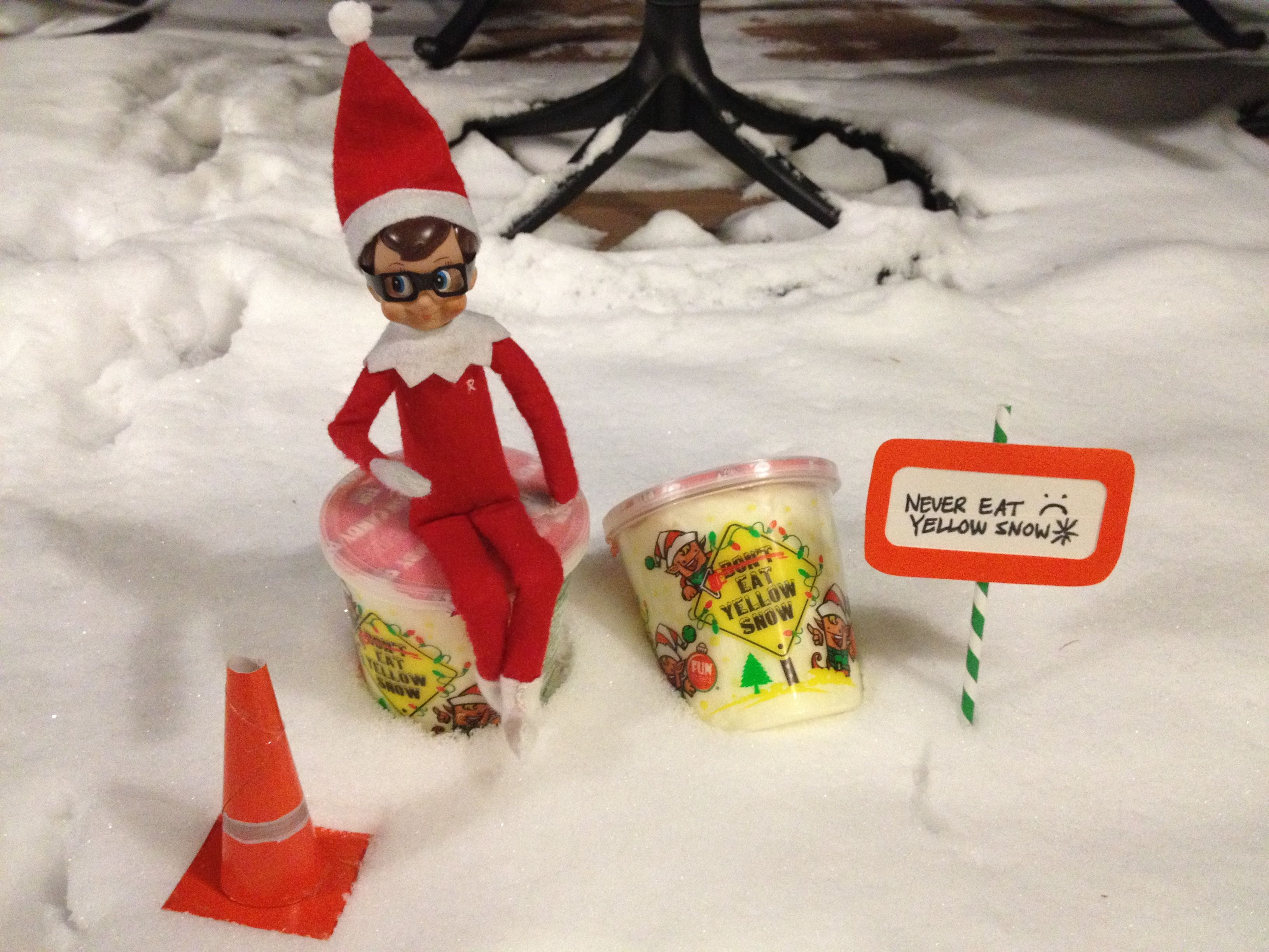 Elf On The Shelf Don T Eat Yellow Snow Cotton Candy