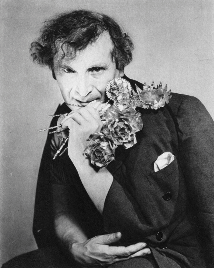 """kvetchlandia:  George Platt Lynes  Marc Chagall   1947  """"The fingers must be educated, the thumb is born knowing.""""Marc Chagall"""