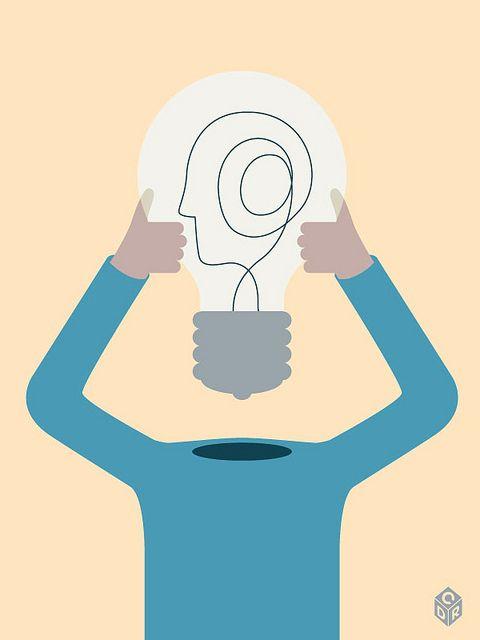 The Big Idea Brain Illustration Conceptual Illustration Illustration