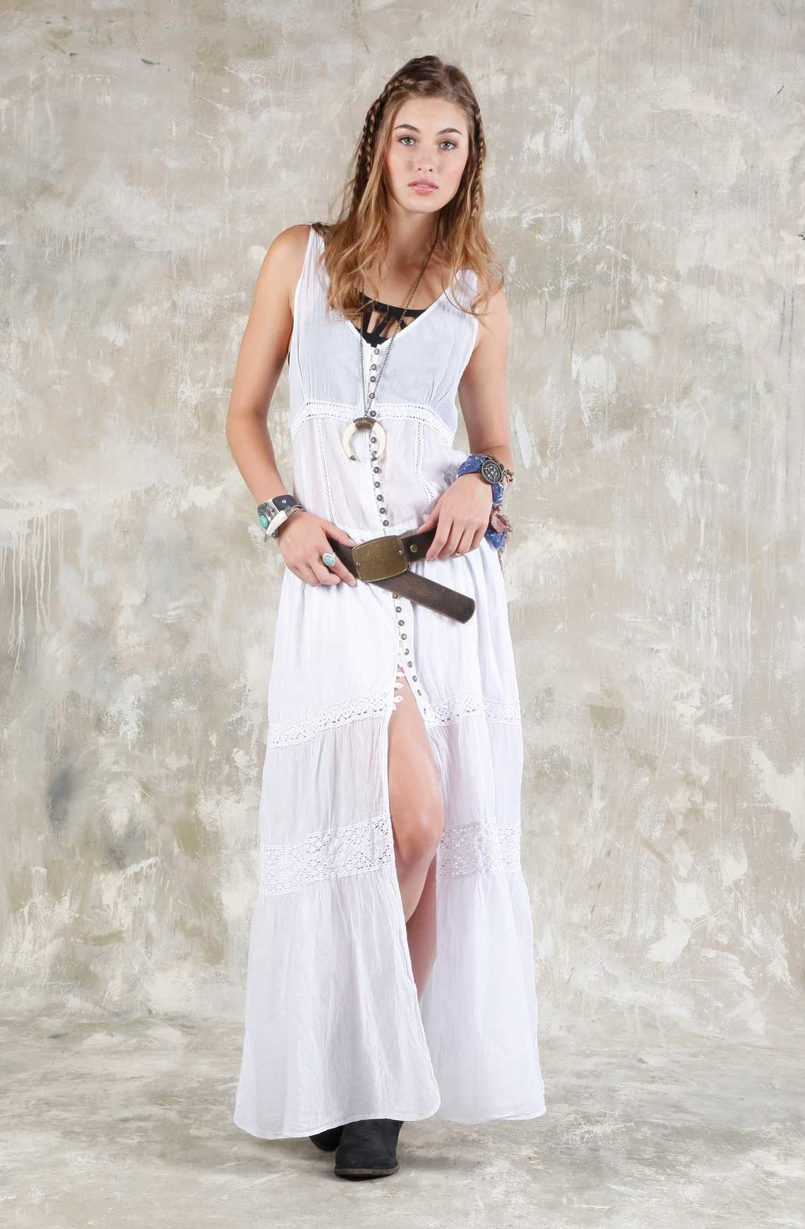 Vestidos largos manga sisa