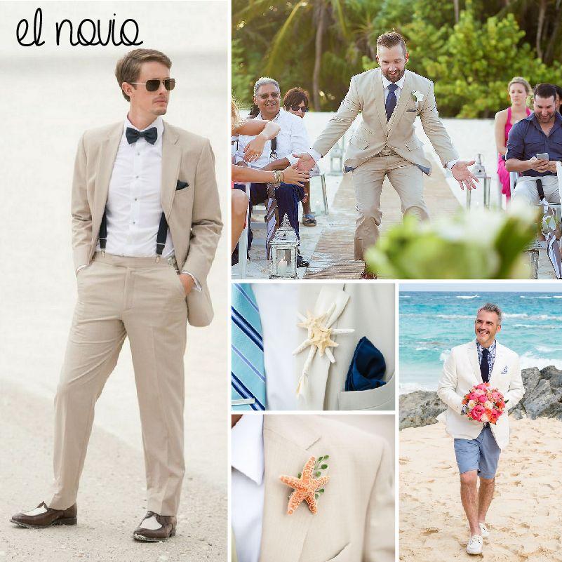 e564eb4762 Boda en la Playa — El look del novio  MásQ1Boda  groom  noviofeliz  fashion