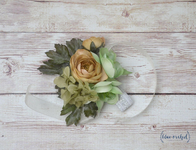 Wrist Corsage Corsage Wedding Corsage Silk Flowers Silk Corsage