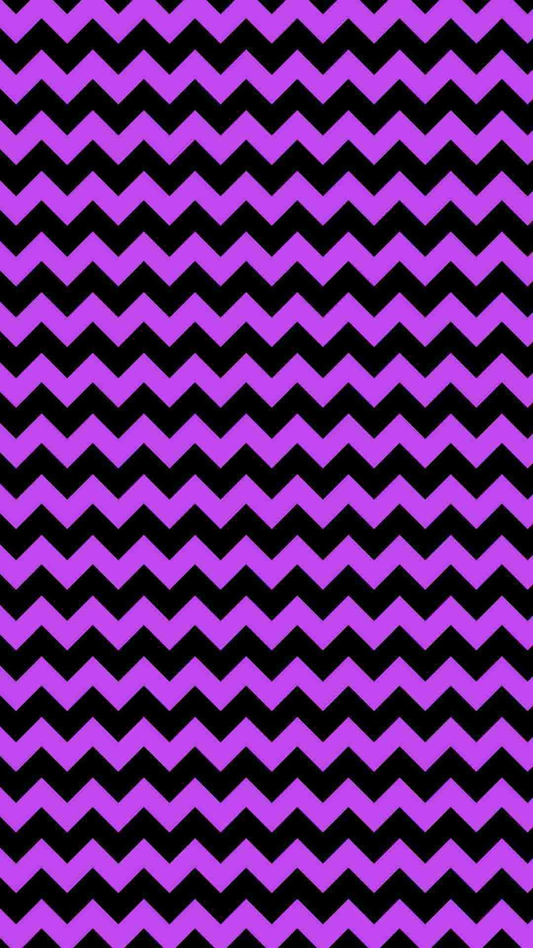 Wallpaper iphone violet - Purple And Black Chevron Iphone 6 Plus Wallpaper Glitter Ze Print Zigzag Pattern
