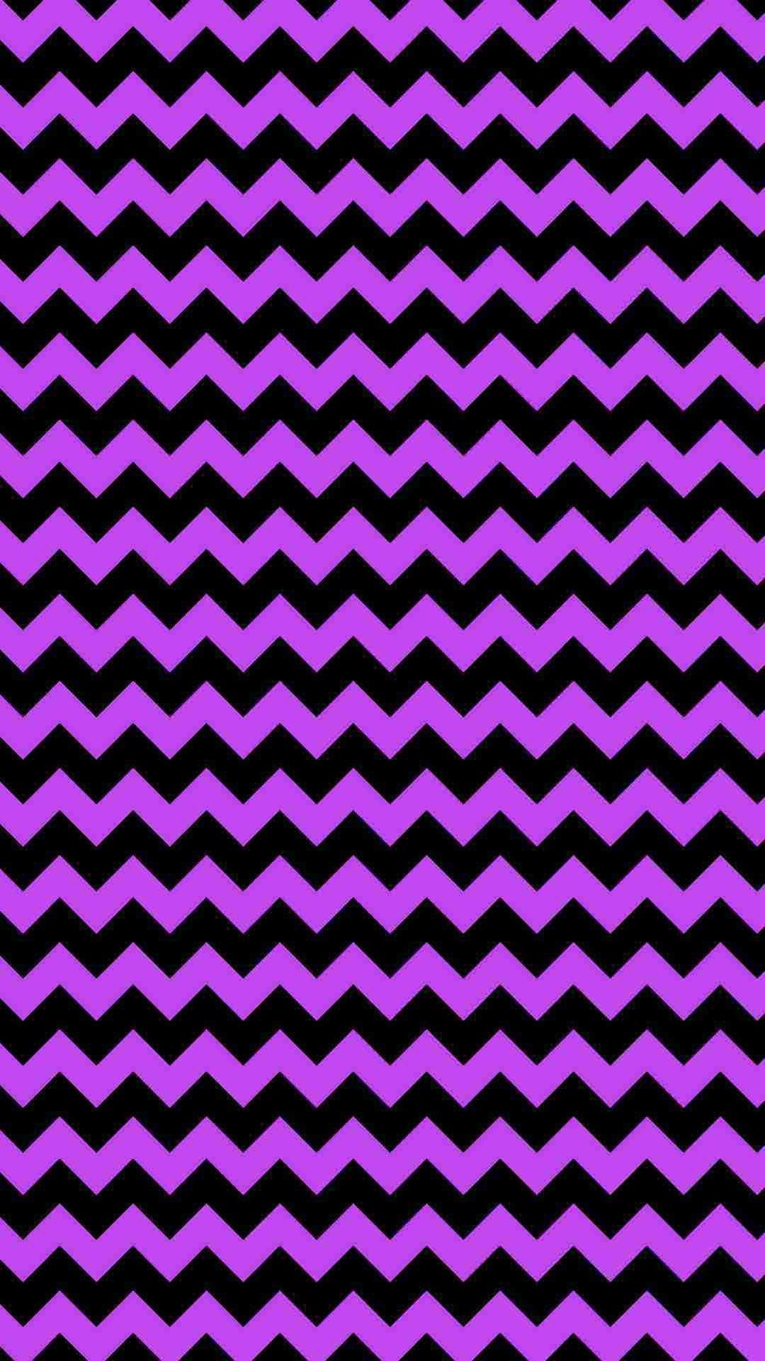Purple and Black Chevron iPhone 6 Plus Wallpaper - Glitter Ze Print ...