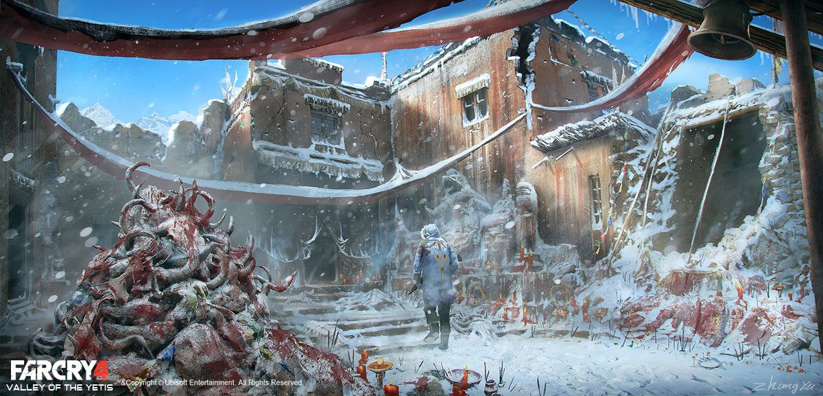 Far Cry 4 Dlc Valley Of The Yetis Concept Art Xu Zhang On