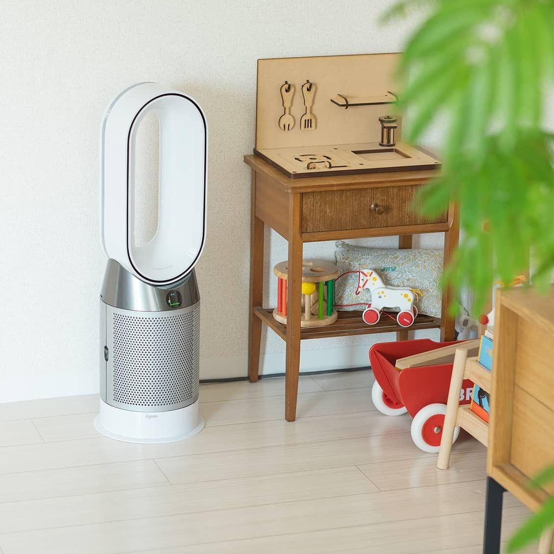 真夏もエアコンいらず 部屋中涼しく 空気までキレイになる一台三役の家電って 2020 ダイソン 扇風機 ダイソン 空気清浄機