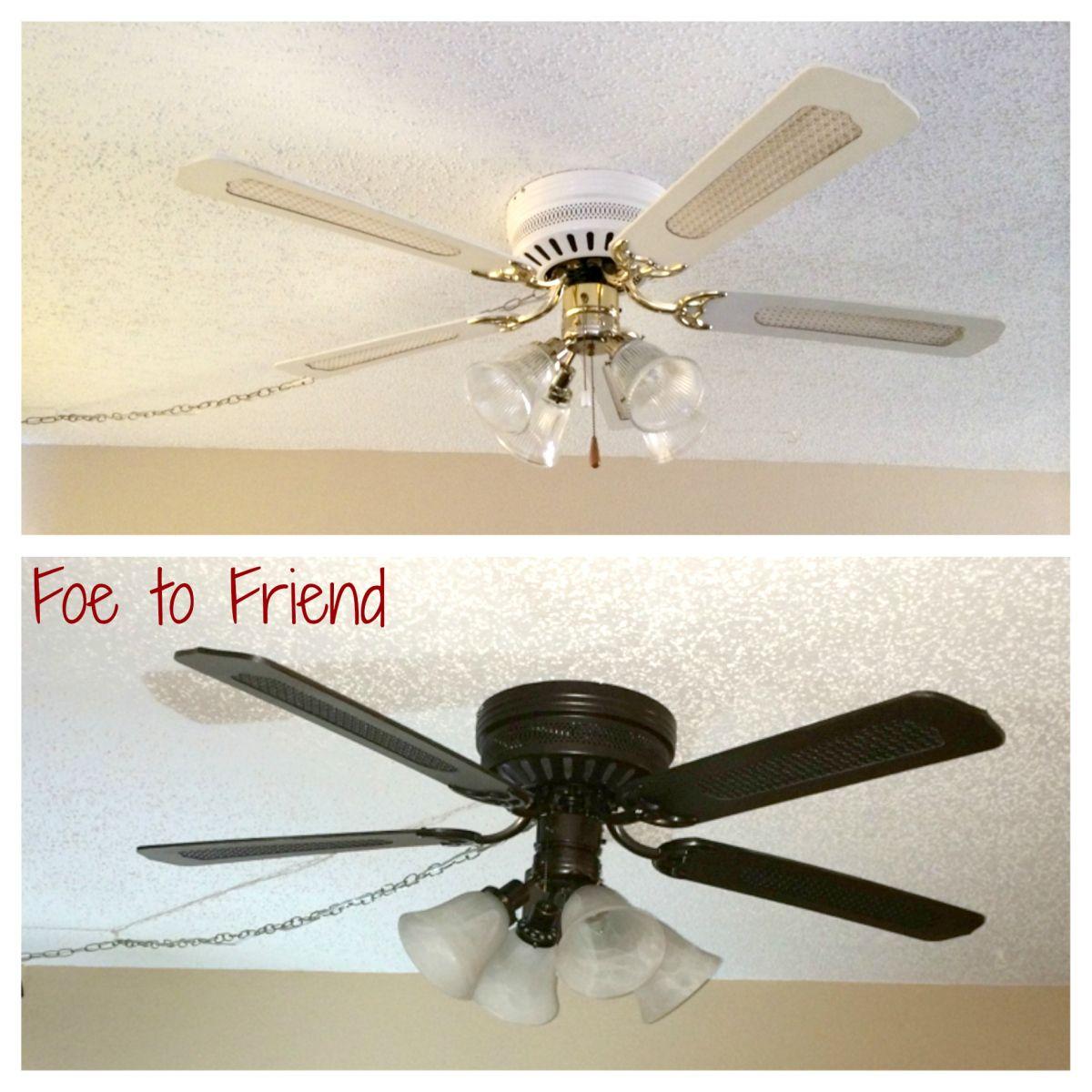 Diy Old Ceiling Fan Refresh Ceiling Fan Diy Ceiling Fan Redo Ceiling Fan Makeover