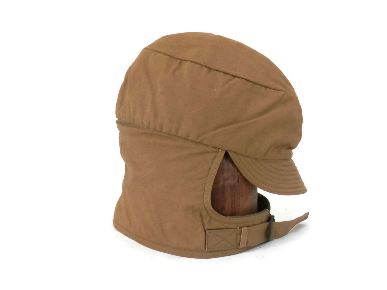 d5a32c5b796dea WWI Winter Military Headware U.S. Cold Weather Billed Field Cap Dated 1918  by bigbangzero on Etsy