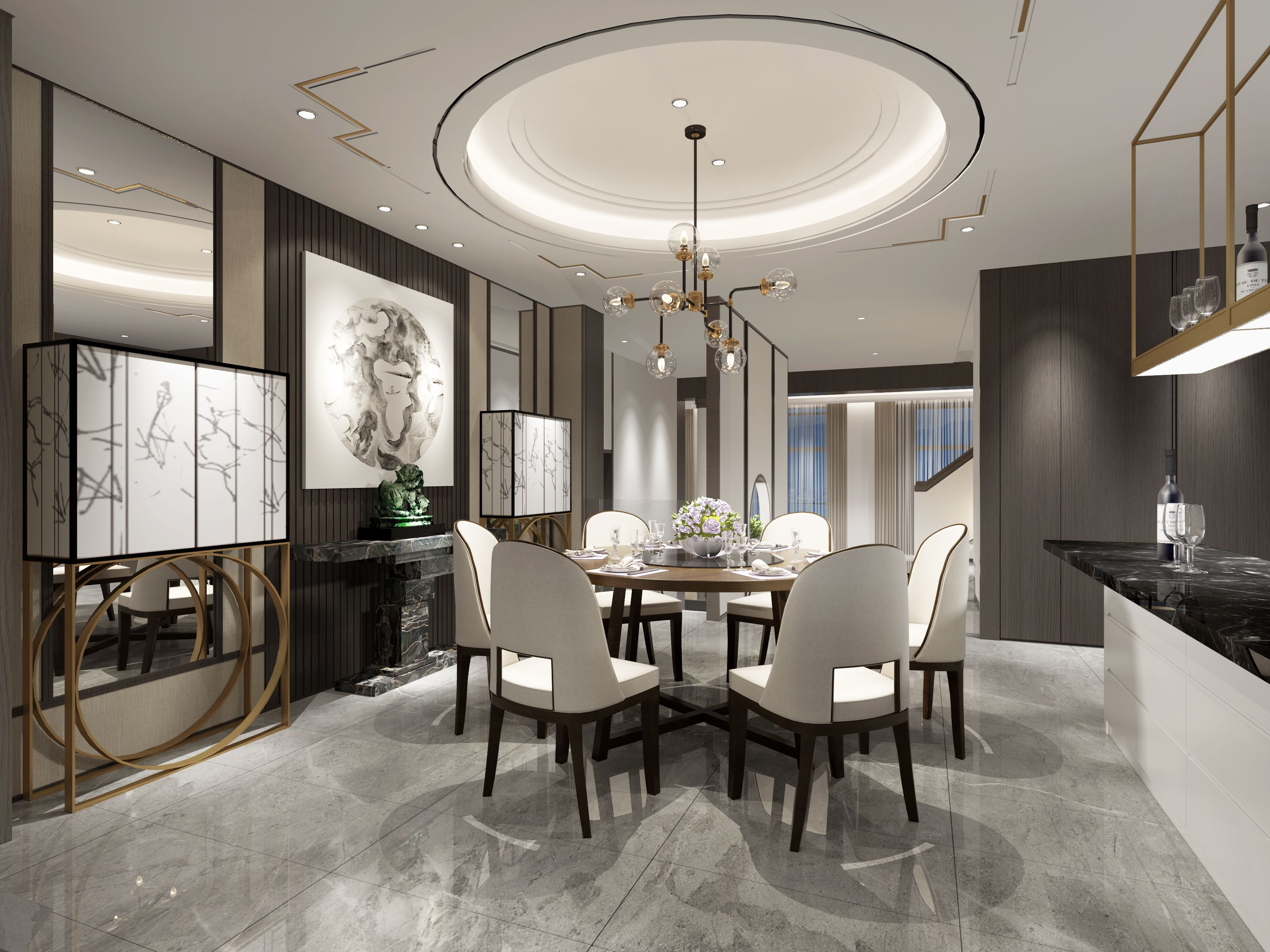 Pin By Suyili On Suyili Design Luxury Dining Room Beautiful Dining Rooms Residential Interior