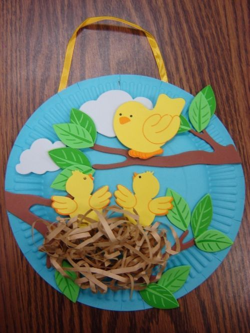 Spring Summer Or Bird Craft How Cute Is That Hopscotch