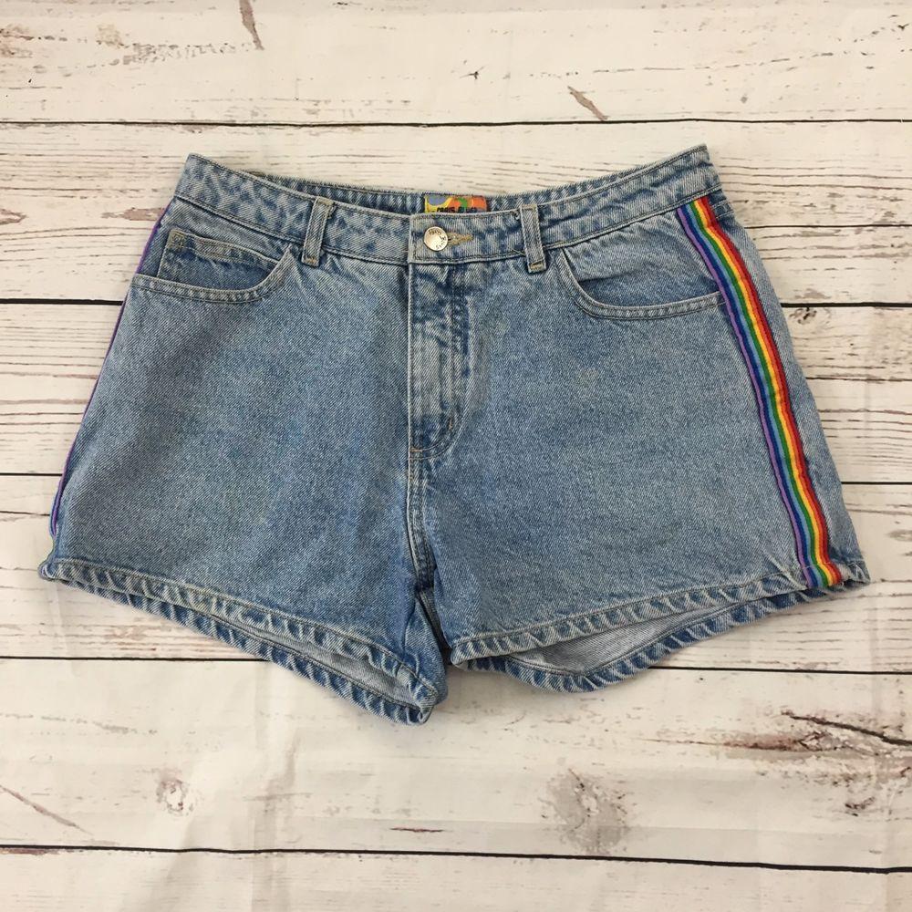 b8153f59b5 Womens Paris Blues Jean Rainbow Side Stripe Shorts High Rise Vintage Retro  SZ 9 | Clothing, Shoes & Accessories, Women's Clothing, Shorts | eBay!