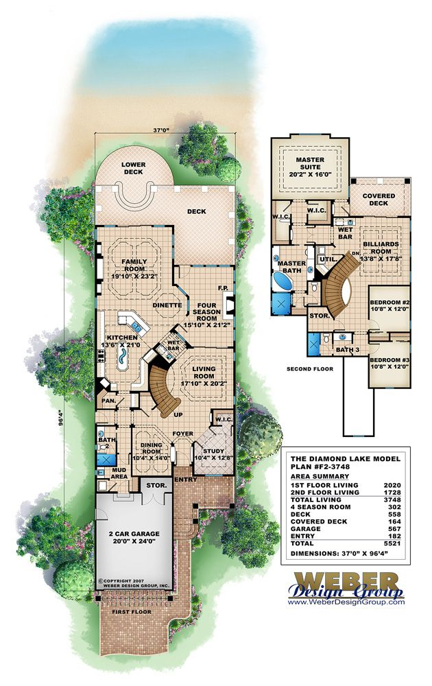 Craftsman floor plan diamond lake house plan by weber for Weber house plans