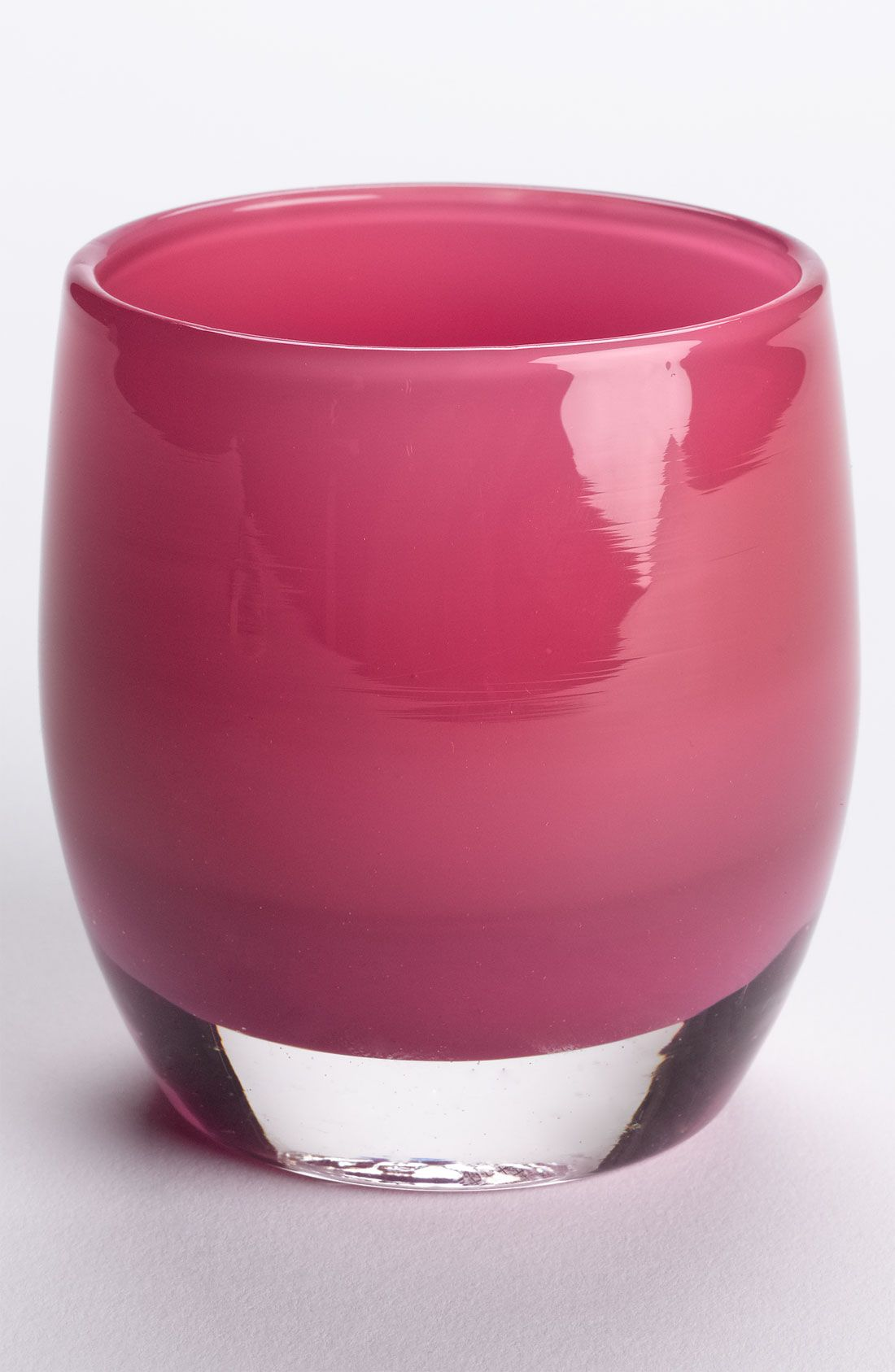 This Evelyn glassybaby created in honor of Evelyn Lauder is a vivid pink in color, but shines with its own lively, signature glow when lit.