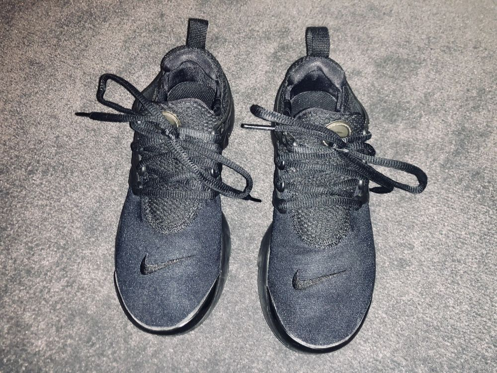 USED NIKE AIR PRESTO TRIPLE BLACK RUNNING TRAINING SHOES 833875-003 Size 4Y   fashion  clothing  shoes  accessories  kidsclothingshoesaccs  boysshoes ( ebay ... 8a001cc1f