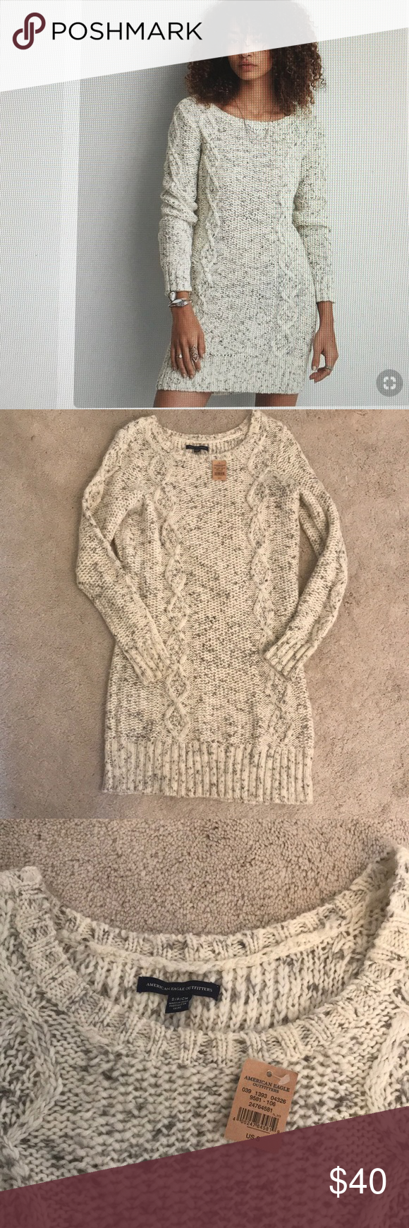 Ae Cable Knit Marbled Sweater Dress Size Small Ae Marbled Sweater Dress Color Oatmeal Soft Cabl Sweater Dress Cable Knit American Eagle Outfitters Dresses