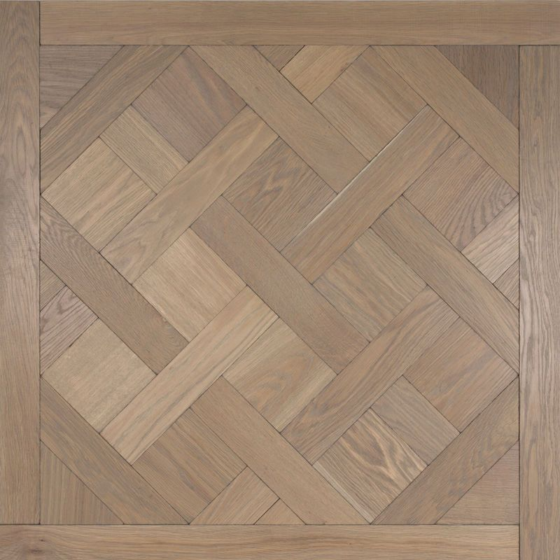 Solid Parquet Flooring Glued Brushed Aged Bespoke Hertog