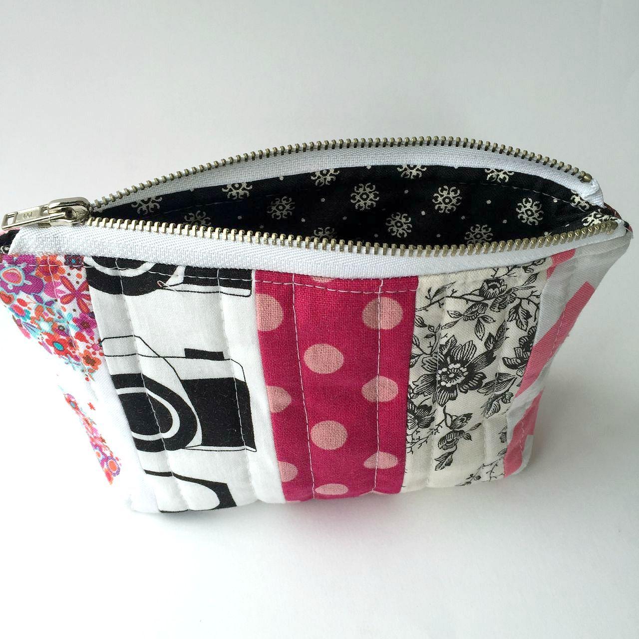 Mini Scrappy Zipper Pouch Pouch sewing, Cosmetic bag