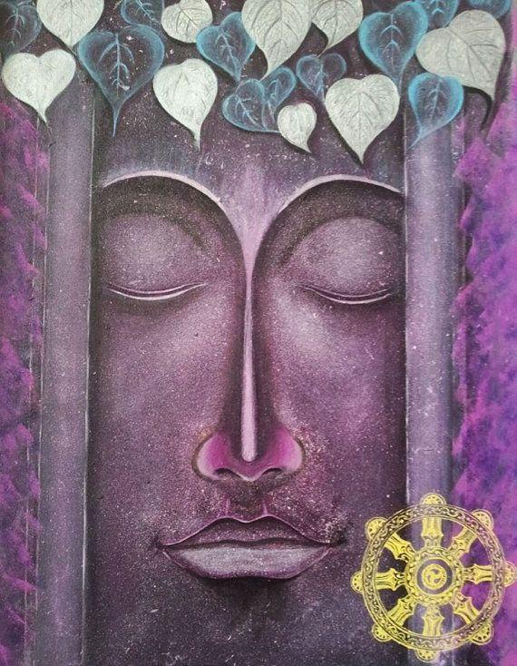 Buddha Gemälde, spirituelle Kunst, motivierende Art, Zoll große - kunst fürs wohnzimmer