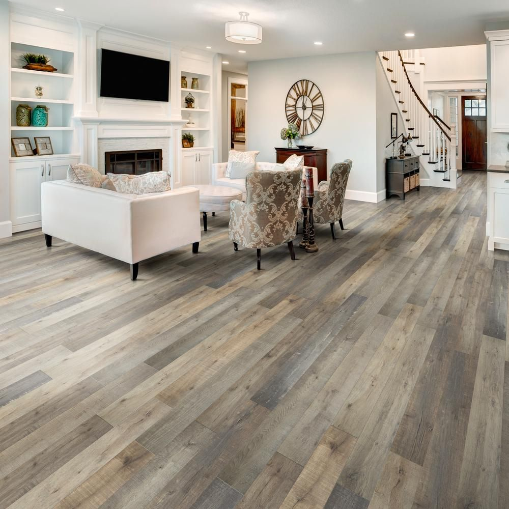 Home Decorators Collection Eir Park Rapids Oak 8 Mm Thick X 5 In Wide X 47 80 In Length Laminate Flooring 24 89 Sq Ft Case Hl1321 The Home Depot House Flooring