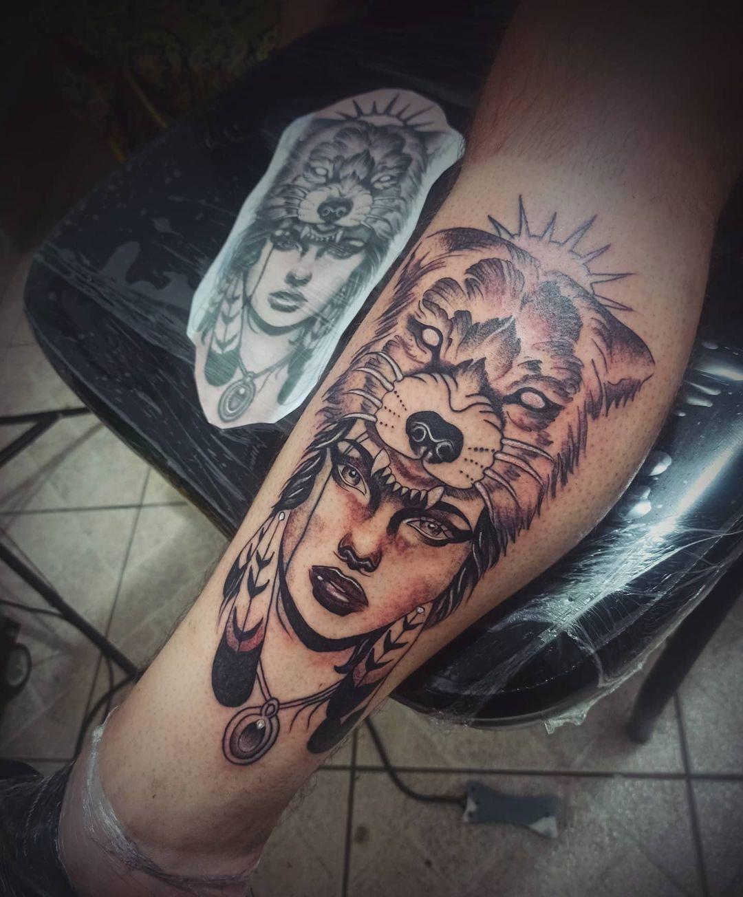 Obrigado pela preferência e confiança @luanferreirag14 #tattoosombreada #tattooindia #tattoolobo #Tattoo #tattoowork #tattooworkers #tattooworld #tatuagem