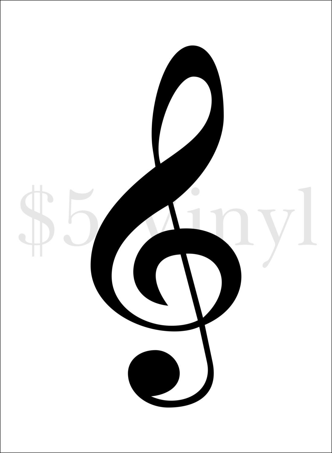 Treble clef xs small wall art car decal sticker window treble clef wall art car decal sticker window decal music symbol biocorpaavc Images