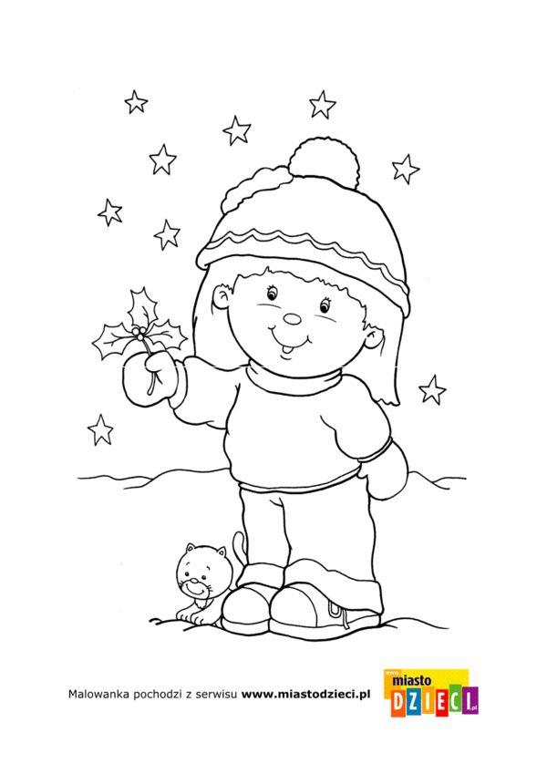 Zima Kolorowanki Dla Dzieci Kolorowanki Zima Kolorowanka