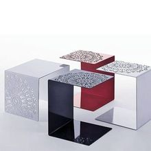 3 Plexiglas Bijzettafeltjes.Matthew Helder Acryl Afgeronde Kubus Bijzettafel Steel Furniture