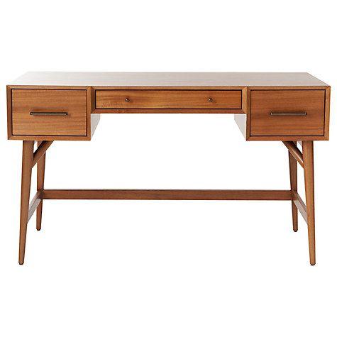 West Elm Mid Century Desk White Minimalis Meja Retro