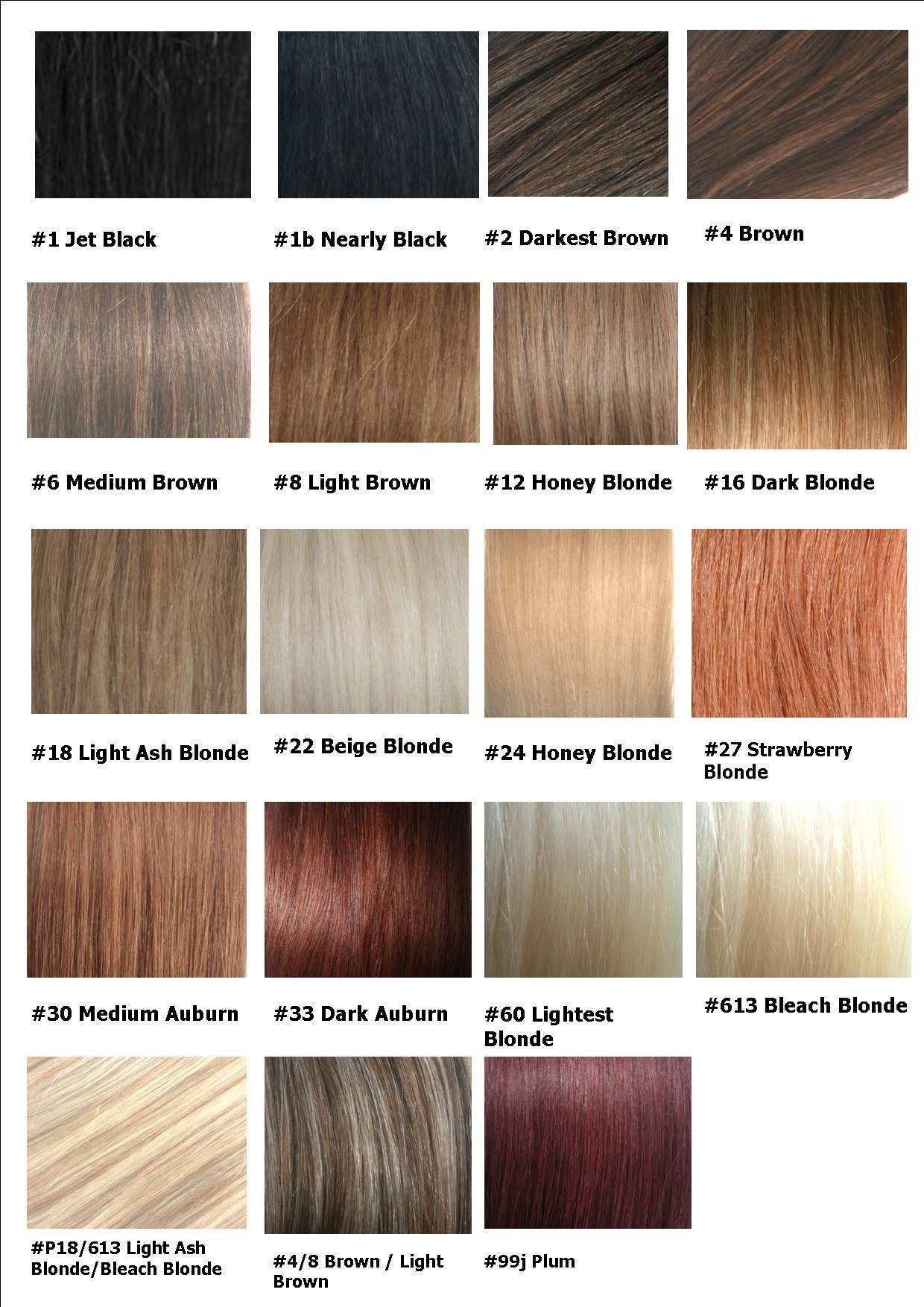 Remi India Colour Chart3 Jpg Dengan Gambar Rambut