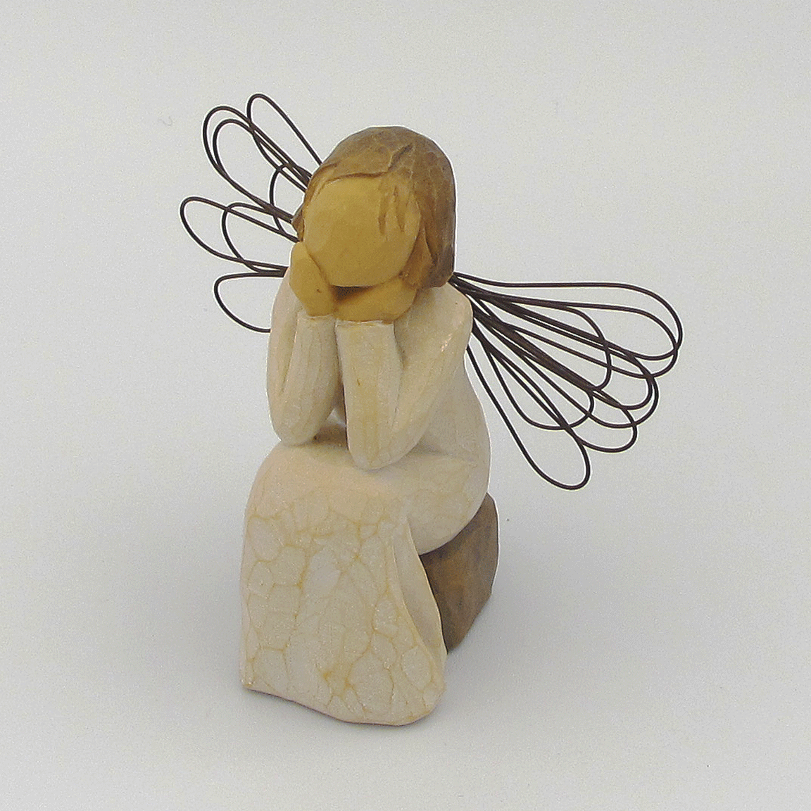 Angel Of Caring By Willow Tree Vintage Woman Hand Carved Wooden