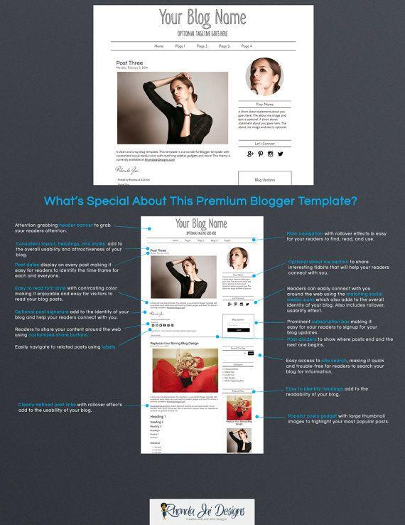Premium Blog Design Premade Blogger Template By Rhondajai Wedding Blog Design Blogger Templates Creative Blog Design