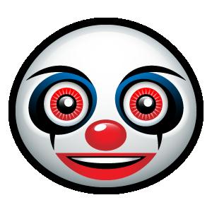 Creepy Clown Emoticon Creepy Clown Emoticon Creepy
