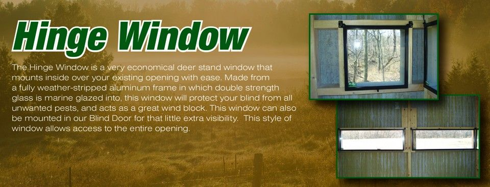 Deerview windows deer stand windows deer blind windows for Building deer blind windows