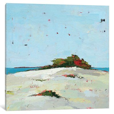 """East Urban Home 'Fall Dune' Painting Print on Canvas Size: 26"""" H x 26"""" W x 0.75"""" D"""