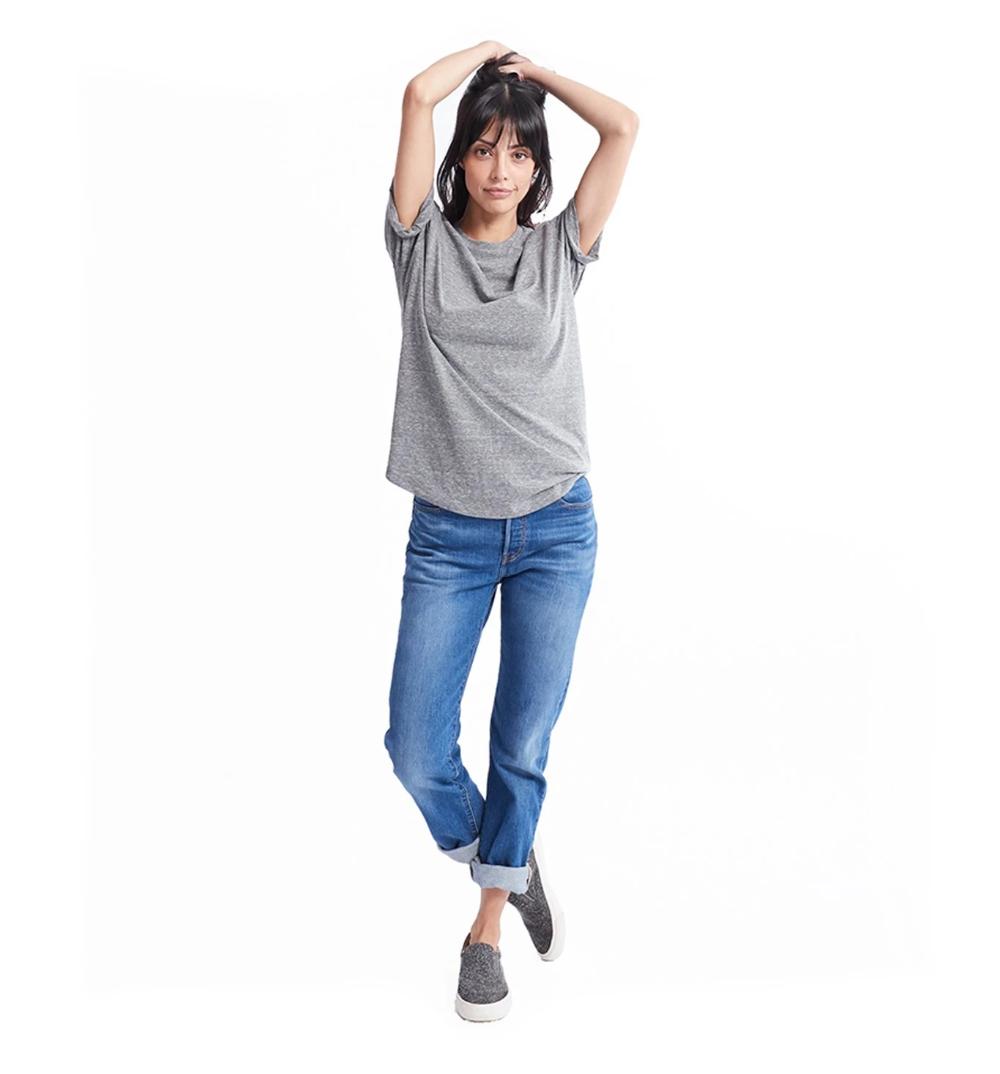Women's Tri-Blend Beau Crew | Dune | Goodlife Clothing