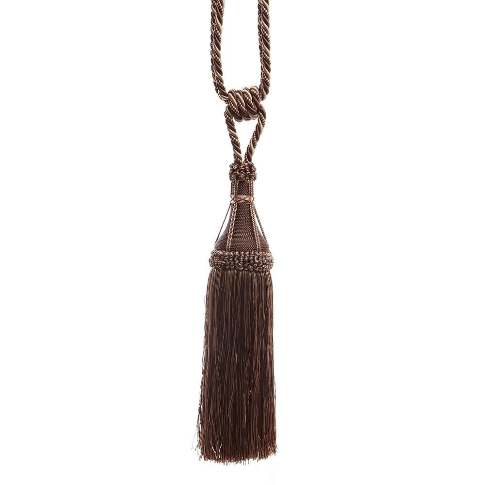 Best Home Fashion Handcrafted 32 In L Chocolate Modern Tassel