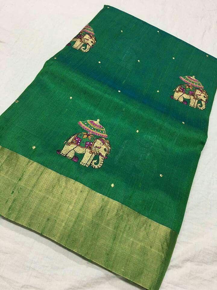 fbf211678762bc Banaras jute silk work sarees Price 6650 Order what s app 7995736811 ...