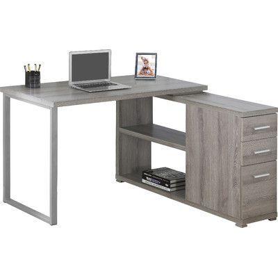 Ebern Designs Leicester Reversible Executive Desk Desk Home