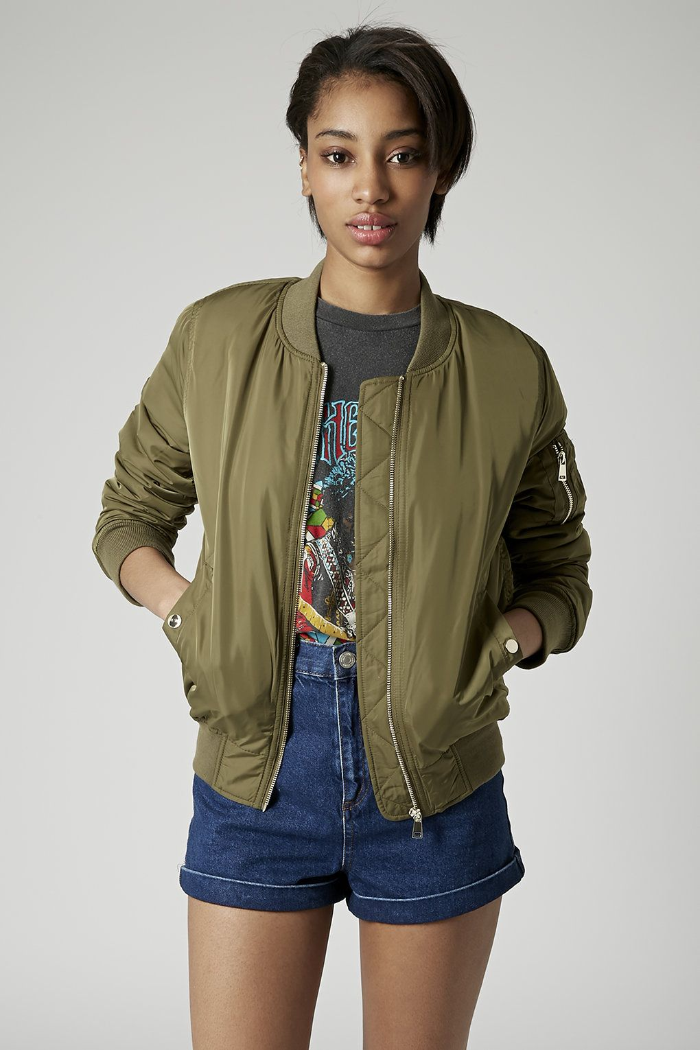c181332a Green Bomber Jacket | Topshop (almost sold out) | STYLE STAPLES ...