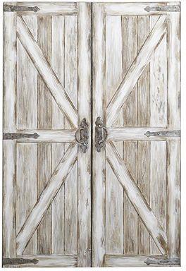 Rustic Barn Doors Art Antique White Sponsored