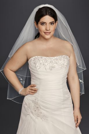 48119f82377 Organza and Lace Plus Size A-Line Wedding Dress Style 9WG3807, Ivory ...