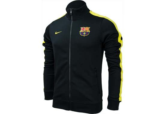 Nike Barcelona Authentic N98 Jacket - Black with Vibrant Yellow...Available  at SoccerPro Now! a4c9d55438f