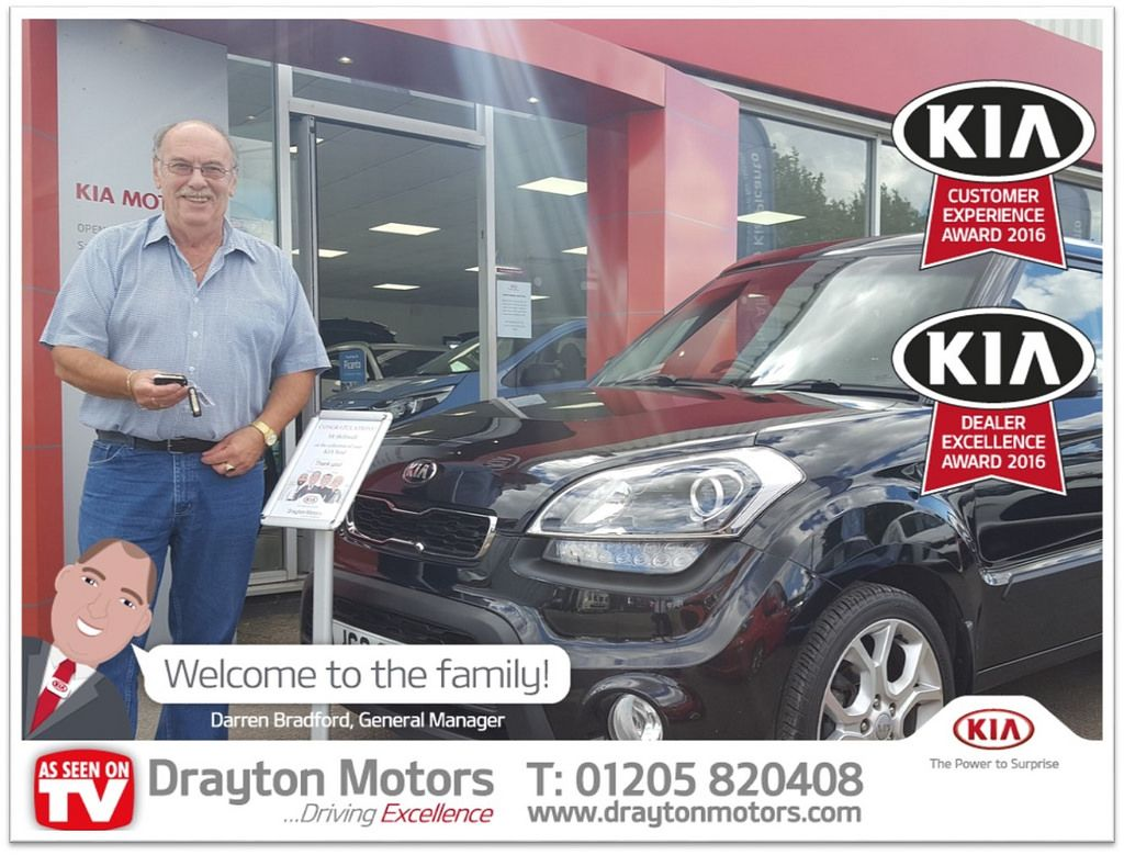 Pictured Is Alan Helliwell Collecting His Kia Soul From Martin Alan Is New To Kia And We Are Happy To Welcome Him To The Drayton Family Drayton Kia Kia Soul