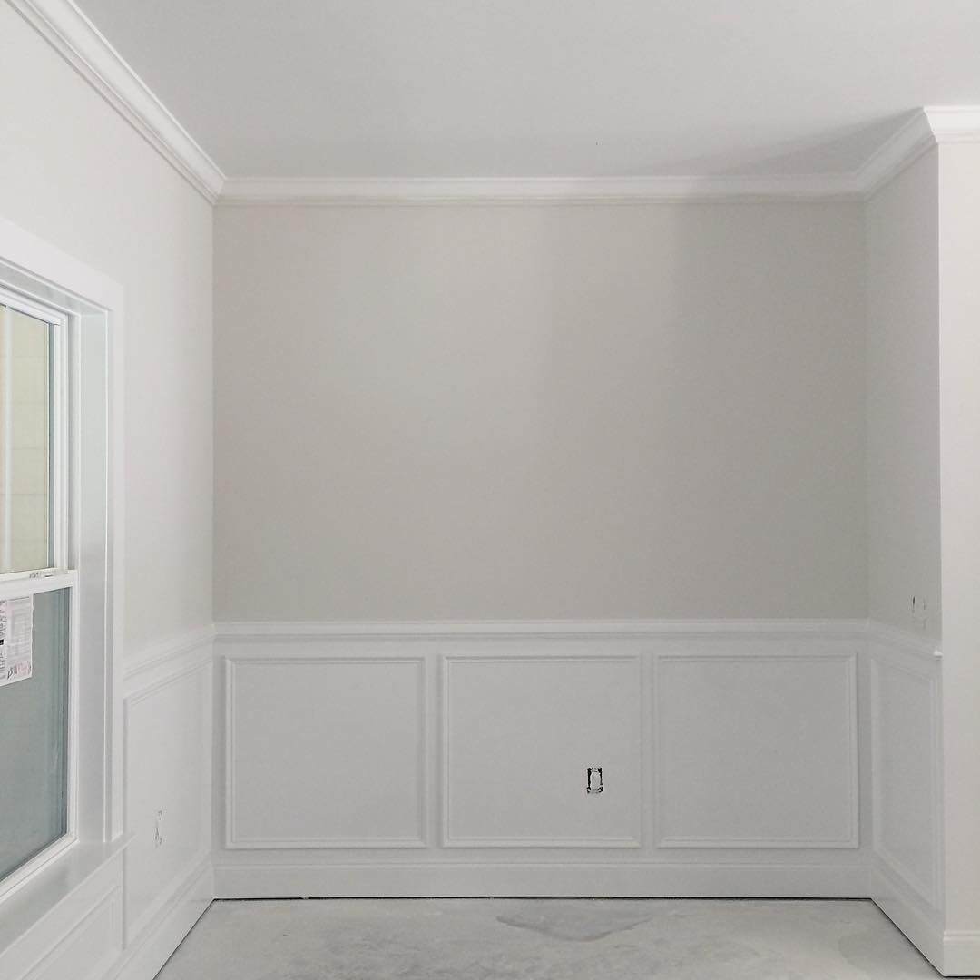 Off White Walls With Grey Trim ️WALL paint Sherwin Williamsu0027 White Heron throughout the entire home.